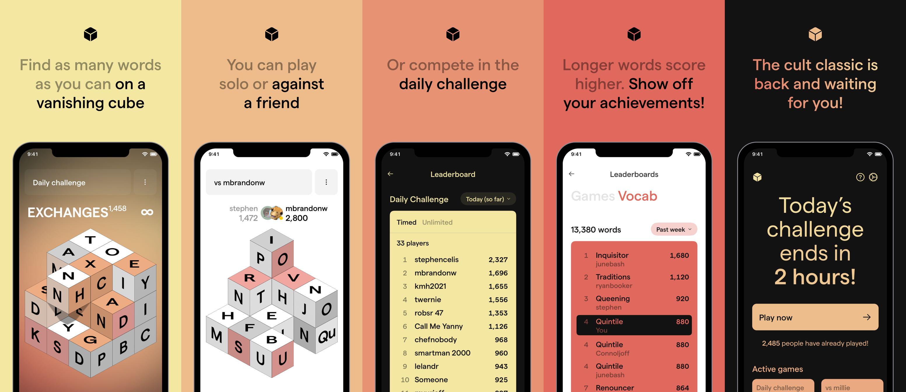 isowords screenshots